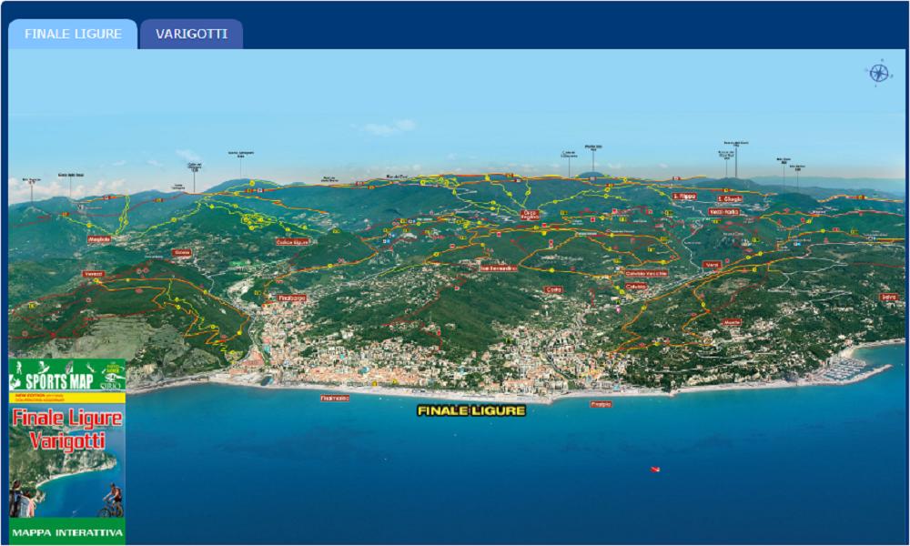 Sports Map Varigotti Finale Ligure Mappa Interattiva